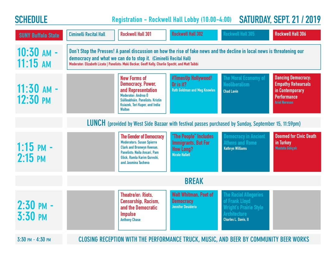 Image of Saturday schedule. Text version available on-page.